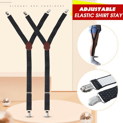 44d27d097b4 2xY-Style Shirt Stays Adjustable Elastic Garters Strap Non-slip Clamps Men  Women