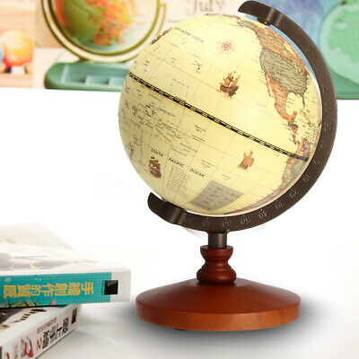 5.5'' Vintage Desk Table Rotating Earth World Map Globe Geography Gift Decor