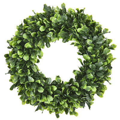 Artificial Green Leaves Wreath Boxwood Wreath Outdoor Door Wall Green Decoration