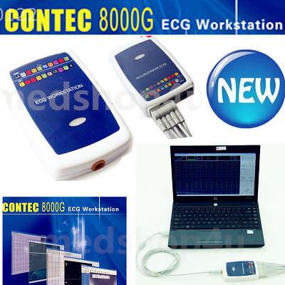 Contec8000g Workstation 12 Lead Resting Ecgekg System Machine Recordersoftware