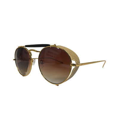 Sarah Connor Sunglasses Terminator 2 Movie Costume Glasses Conner Side Gift (Sunglasses Gold Sides)
