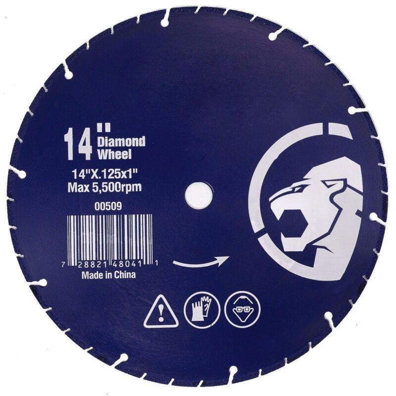 """14"""" inch Diamond Metal Steel Iron Cut Off Wheel Abrasive (14"""" x .125"""" x 1"""")"""
