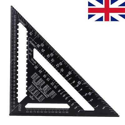 "12"" Heavy Duty Aluminium Speed Square Measuring Tool Roofing Triangle Joinery UK"