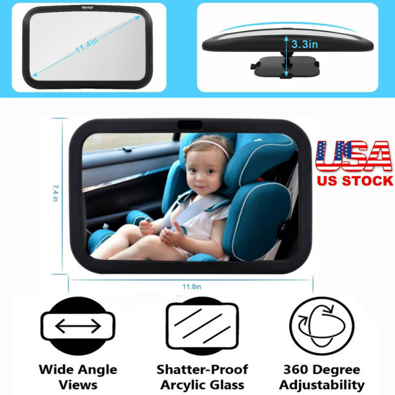 Baby Back Seat Car Mirror Rear Facing View Infant Child Toddler Safety View