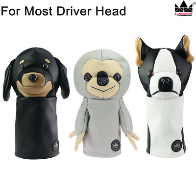 New ! Golf Driver Headcovers Sloth Golf Headcover Bulldog Animal Gift Head -