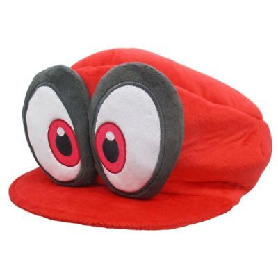 Super Mario Bros Odyssey Cappy Plush Costume Cosplay Hat Red Cap](Wall-e Costume Halloween)