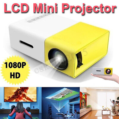 YG-300 LCD Mini Support 1080P Portable LED USB/SD/AV/HDMI Projector Home Cinema