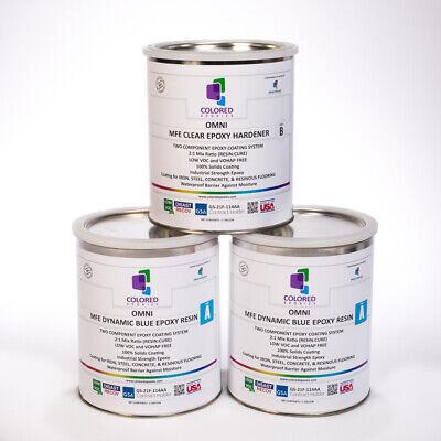 Light Blue Epoxy Resin 100 Solids For Garage Floor Concreteplywood.3 Gal Kit