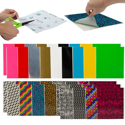 30ct Assorted Duct Tape Duck Tape Sheets Variety Pack Designs, Solid Bulk (Duck Sheets)