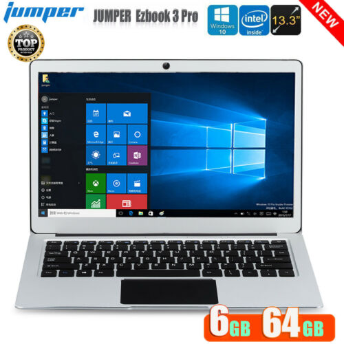 "Laptop Windows - JUMPER Ezbook 3 Pro 13.3"" PC Laptop Windows10 6GB 64GB Camera WIFI BT Notebook"