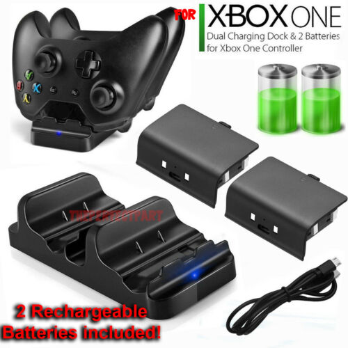 For XBOX ONE Dual Charging Dock Station Controller Charger Rechargeable Battery