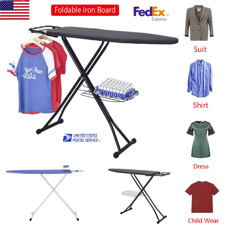 Home ironing Board 4 Leg Foldable Adjustable Cloth ironing Board 48x15 Inch