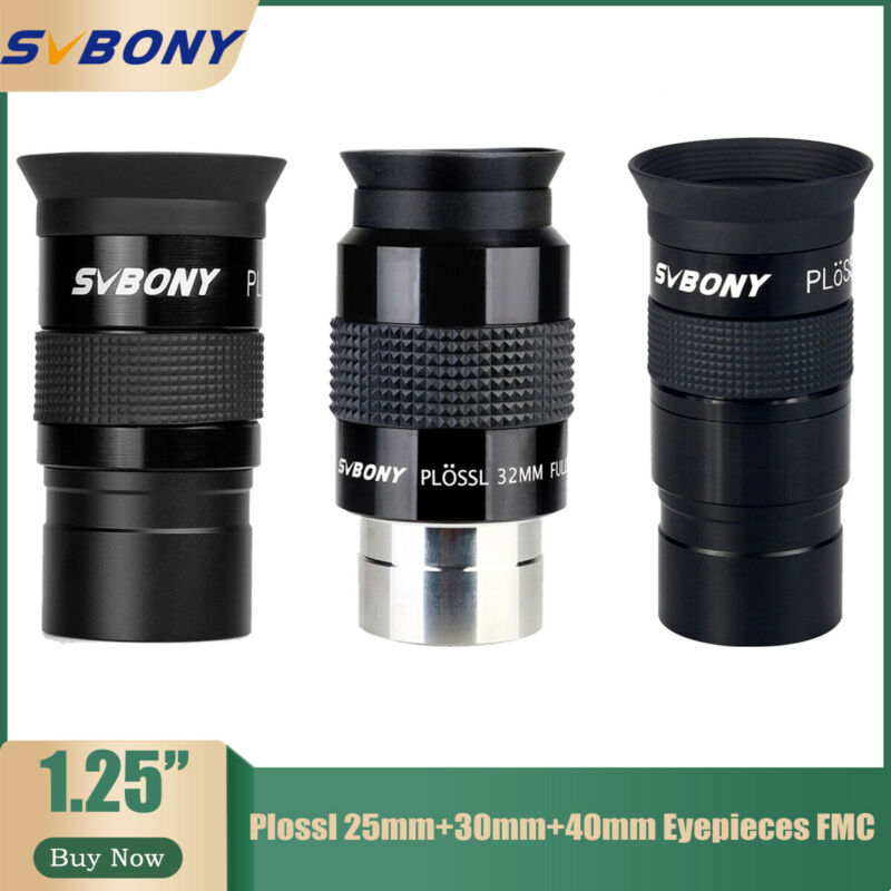 """1.25""""Plossl 25mm/32mm/40mm Eyepieces Lens Fully Multi-coated for Astro Telescope"""