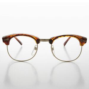 60s Retro Malcolm X Horn Rim Hipster Vintage Glasses Tortoise - Malcom