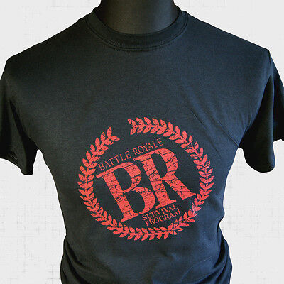 Japanische Logo T-shirt (Battle Royale Logo Manga T-Shirt Retro Comic Cool Super Hero Requiem Japanisch)