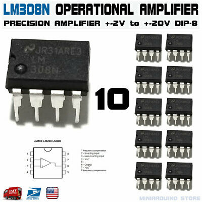 10pcs Lm308n Operational Amplifier Lm308 Lm308an Dip-8 Ic