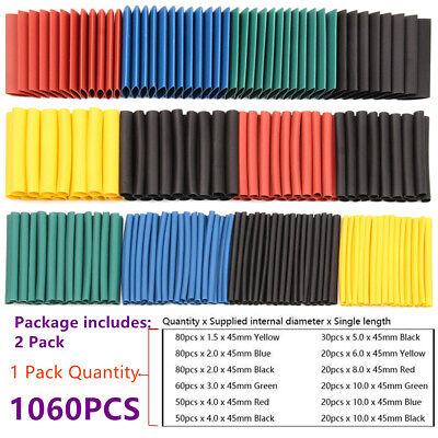 1060pcs Heat Shrink Tubing Insulation Shrinkable Tube 21 Wire Cable Sleeve Set