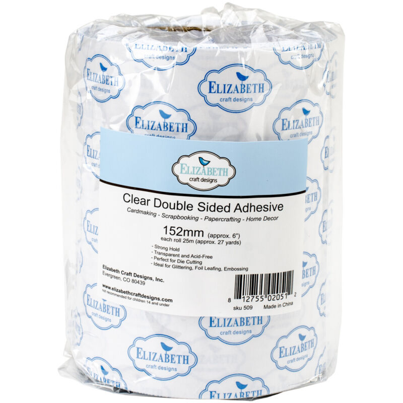 "Elizabeth Craft Clear Double-Sided Adhesive Tape-6""X27yd"
