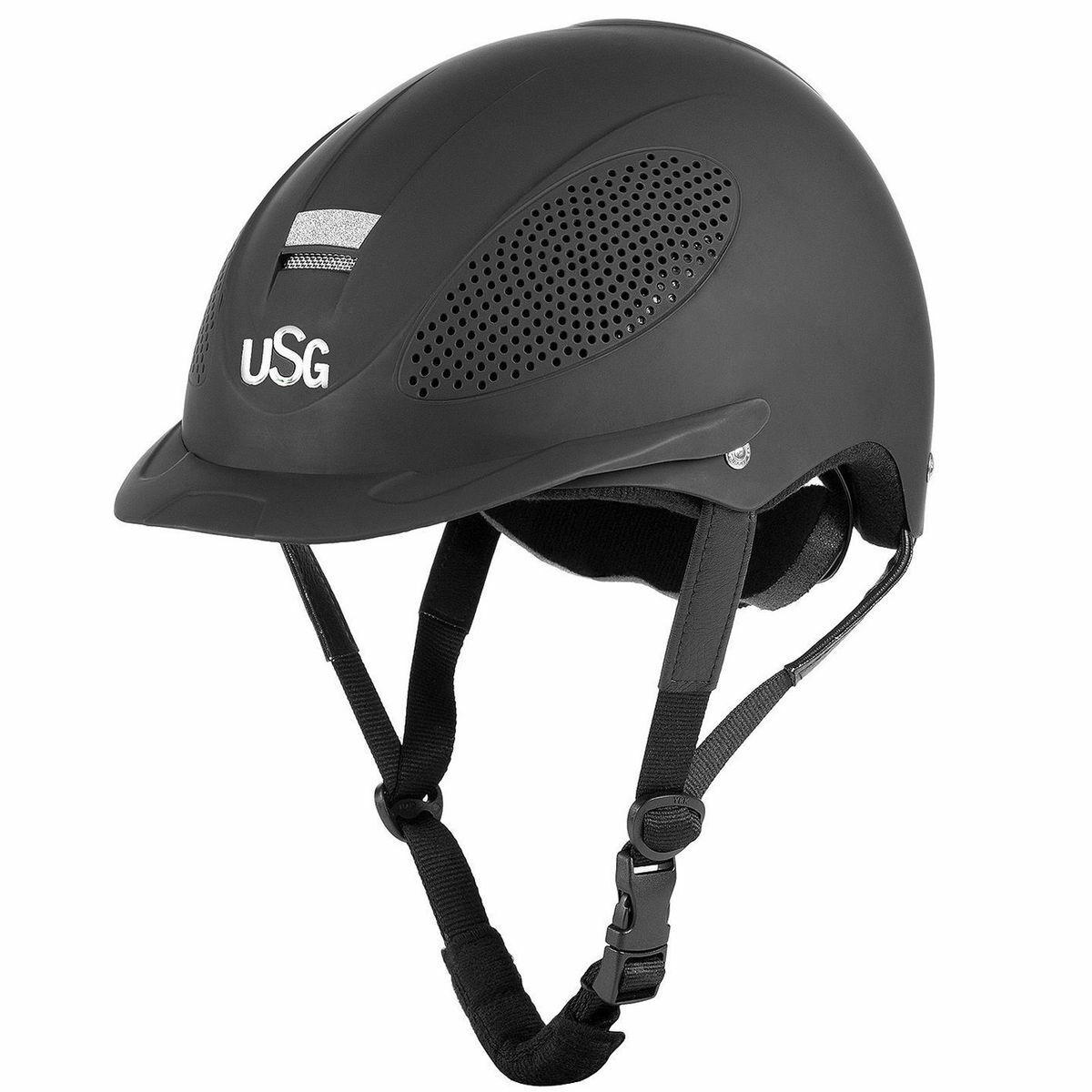 USG Reithelm Comfort Training VG01 mit Glitzer und Drehknopfverschluß 4-Punkt
