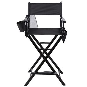 Professional Makeup Artist Directors Chair Wood Light Weight Foldable Black  New