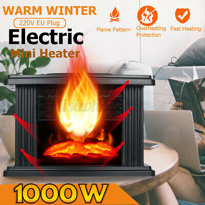 Elektrokamin Elektrischer Kamin LED Standkamin/Wandkamin Heizgerät Flammeneffekt