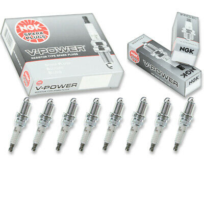 8 pcs NGK V-Power Spark Plugs for 1986-1991 Chevrolet Corvette 5.7L V8 - vv