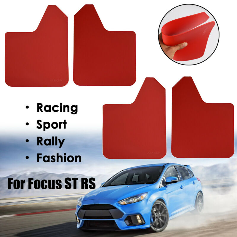 Mud Flaps Mudflaps Rally Style Mud Guards Ford Focus Mk1 ST170 Black RF S-Blue