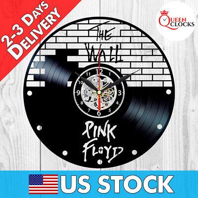 Pink Floyd Wall Vinyl Record Clock Art Merchandise Memorabilia Best Vintage Gift