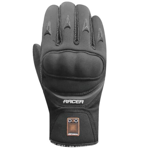 Racer+%22Trooper+2%22+Textile+and+Pittard+Leather+Motorcycle+Gloves+Black%2C+Sz+XXL+11
