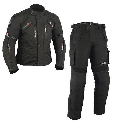 Sommer textile Motorradkombi ,Schwarze Motorrad jacke und hose Herren Jacke Und Hose