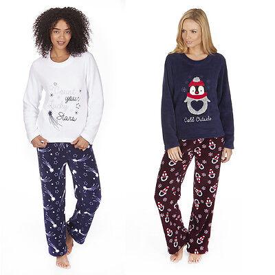 Damen Forever Dreaming Sterne oder Pinguin Pyjama Set Oberteil und Hose ()