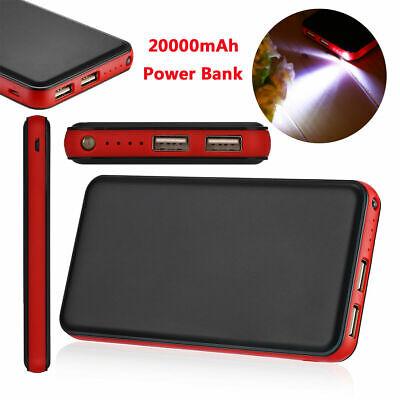 Universal 20000mah LED Power Bank Tragbare 2USB Externes Ladegerät Für iPhone