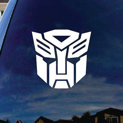 """Autobot Silhouette Robot Face Car Truck Laptop Sticker Decal 4"""" Tall"""