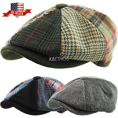 Applejack Multi Plaid Newsboy Gatsby Ivy Hat Golf Driver Ascot