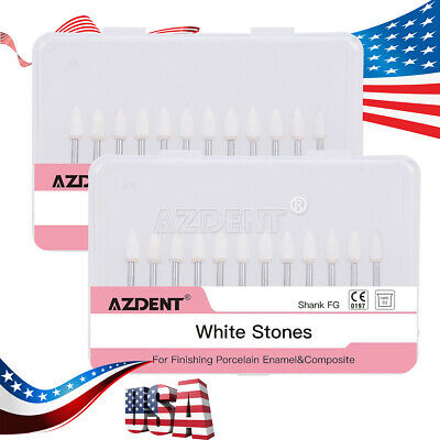 Usa Dental White Polishing Stones Flame Fl2 Fg Burs Arkansas Stone Azdent