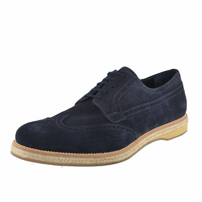 Prada Men's Nubuck Leather Oxfords Wing Tip Shoes Sz 6 7 10 13