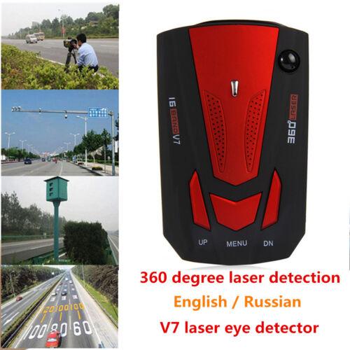 NEW Red V7 Cobra 16 Band 360° Car Camera Laser Radar Detector Voice Alerts