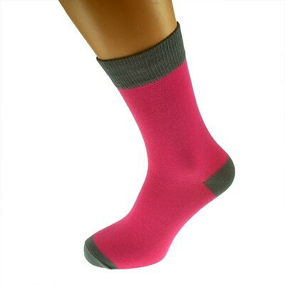 Hot Pink Mens Socks with Grey heal and toes, popular Wedding Day...