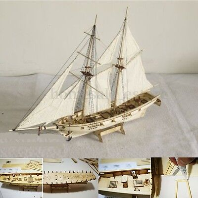 1:100 Scale Wooden Wood Sailboat Ship Kits Home Model Decoration Boat Gift Toy
