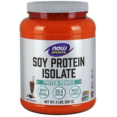 Now Foods Soy Protein Isolate Powder - 2 lbs (Chocolate) FRESH, FREE SHIPPING