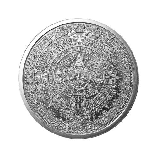 (2018) Golden State Mint Aztec Calendar 1oz Silver Round Gem Bu Sku55694