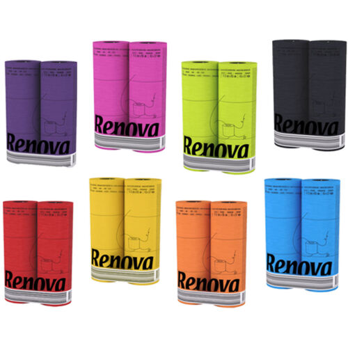 Renova Luxury Scented Colored Toilet Paper 6 Rolls 3-Ply 140 Sheets Bath Tissue