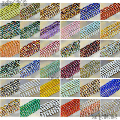 2mm 3mm 4mm Natural Gemstones Round Spacer small Beads 15.5'' Jewelry Design - Small Beads