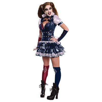 HARLEY QUINN Womens Adult Costume Dress Batman Arkham City XS, S, M, L](Batman Woman Costume)