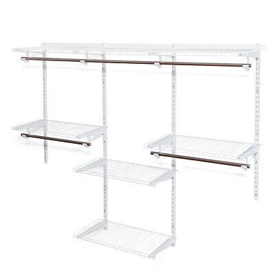 Wall Mounted Adjustable Closet Organizer Custom Metal Closet Organizer -