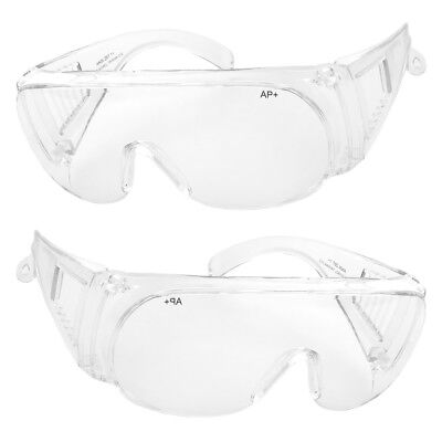 Extra Clear Lens (Extra Large Fit COVER Over Most Rx Glasses Sunglasses Safety Day Clear)