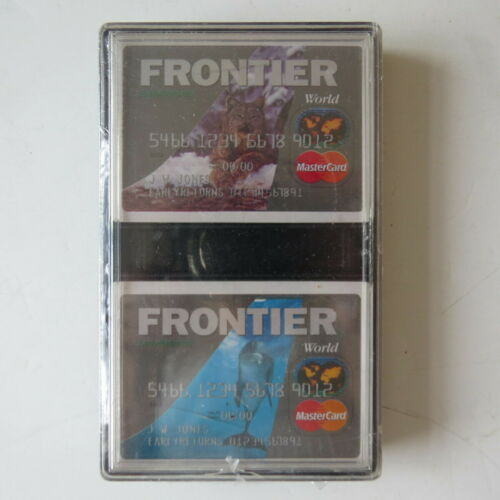 NEW Vintage FRONTIER AIRLINES Playing Cards 2 Decks — Sealed