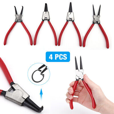 "4PCS 7"" Heavy Duty Circlip Plier External Internal Snap Ring"