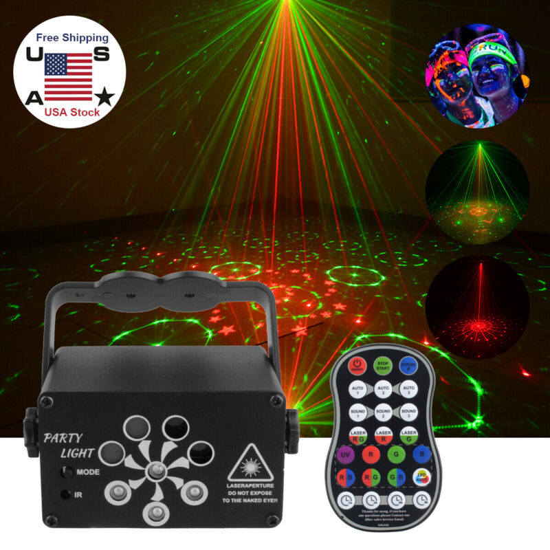 240 Pattern RGB Portable Led Stage Laser Light DJ KTV Projector Disco Lamp USA