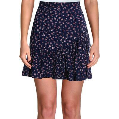 Aqua Womens Floral Ruffle Dressy Mini Skirt BHFO 2951
